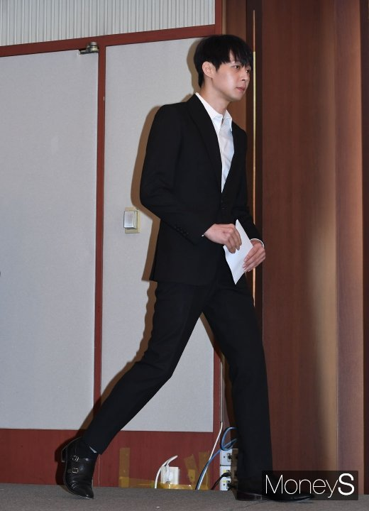 [머니S포토] 박유천, '황하나 마약 수사'와 관련한 긴급 기자회견 참석