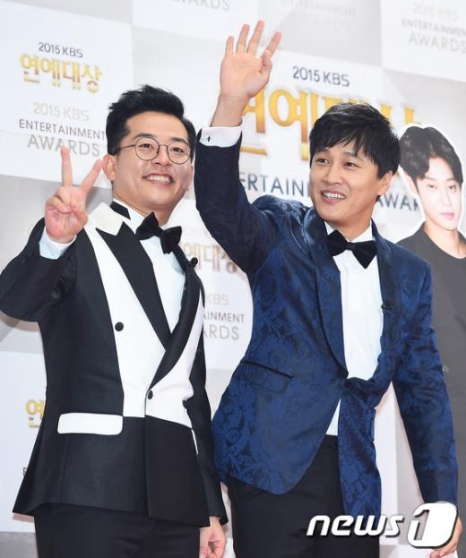 개그맨 김준호(왼쪽)과 배우 차태현. /사진=뉴스1 DB