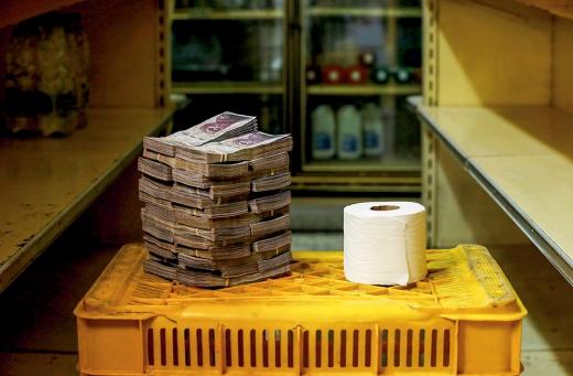 베네수엘라에서 두루마리 화장지를 사기 위해서는 260만 볼리바르가 필요하다. /사진=로이터