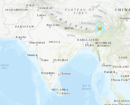인도 지진. 지진. /사진=미 지질조사국 홈페이지 캡처