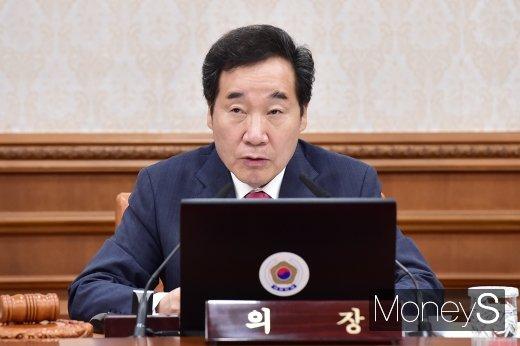 [머니S포토] 2019년도 추경 관련 입 뗀 이낙연 총리