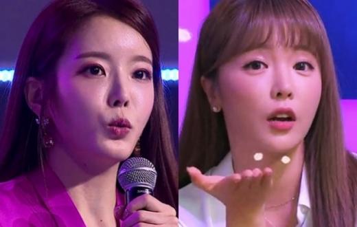 박성연 홍진영. /사진=TV조선 방송캡처