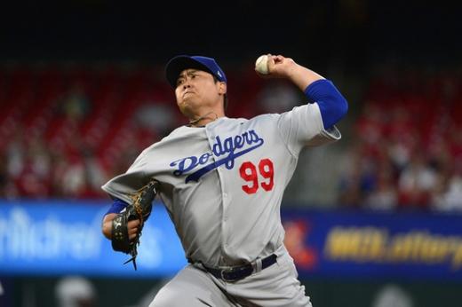 2일(한국시간) 미국 캘리포니아주 오라클 파크에서 열린 2019 미국메이저리그(MLB) 샌프란시스코 자이언츠전에 선발 투수로 출전한 LA 다저스의 투수 류현진. /사진=로이터