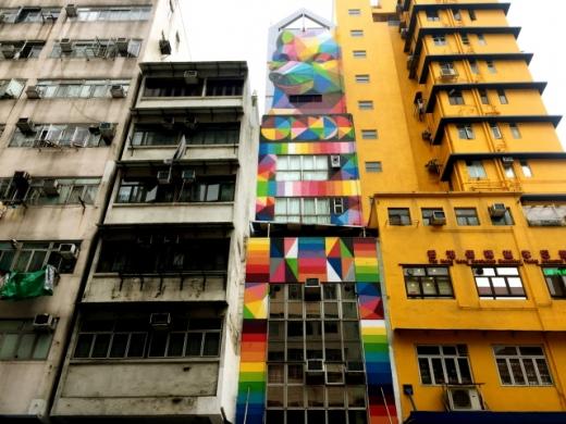 올드타운 센트럴의 벽화. 낡은 건물과 조화를 이룬다. /사진=홍콩관광청