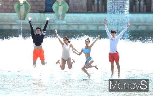 [머니S포토] '신나게 즐기는 물놀이'