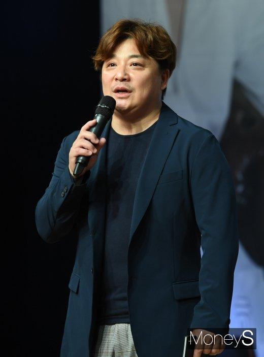 """[머니S포토] 윤정수 """"노지훈 쇼케이스 사회 맡았어요"""""""