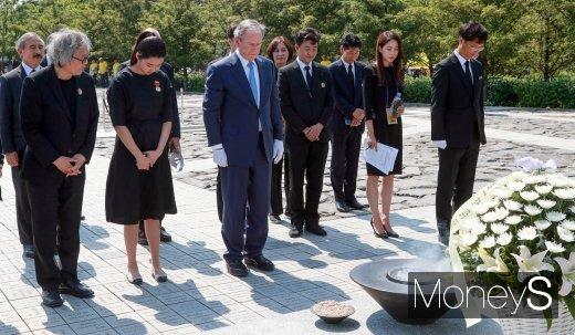 [머니S포토] 조지 W 부시, 노무현 전 대통령을 기억하며