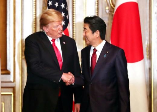 트럼프 미국 대통령과 아베 신조 일본 총리. /사진=로이터