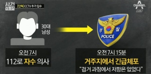 신림동 추가 CCTV. /사진=채널A 방송캡처