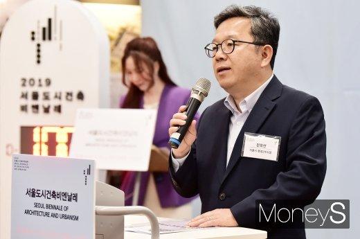 [머니S포토] 2019 서울비엔날레 인사말 전하는 진희선 부시장