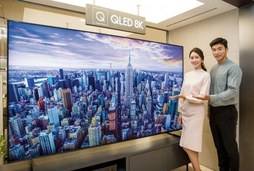 삼성전자 2019년형 QLED 8K TV. /사진제공=삼성전자