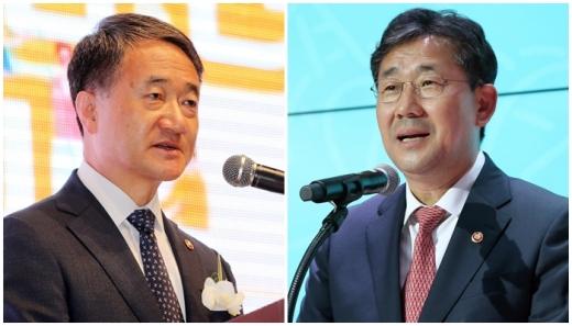 박능후 보건복지부 장관(왼쪽)과 박양우 문화체육관광부 장관. /사진=뉴스1
