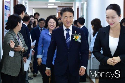 [머니S포토] 한국보육진흥원 출범식 참석한 박능후 장관