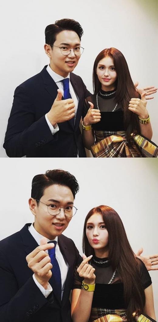 장성규 전 JTBC 아나운서와 전소미. /사진=장성규 인스타그램 캡처