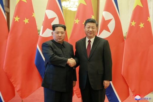 김정은 북한 국무위원장과 시진핑 중국 국가주석. /사진=로이터(조선중앙통신 제공)