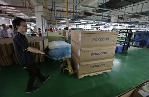 중국 우한시의 폭스콘 생산시설. /사진=로이터