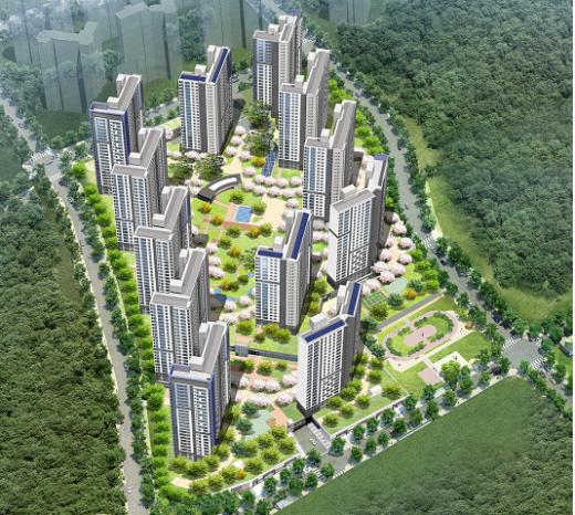 광주 '오포 더샵 센트럴포레' 조감도. /사진=포스코건설