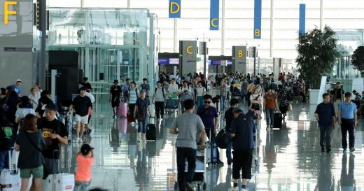 인천공항 제2여객터미널 출국장. /사진=뉴시스 박주성 기자