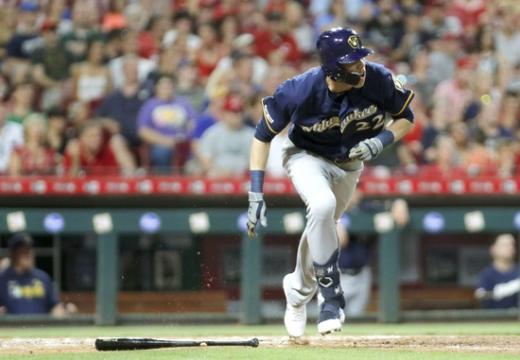 이번 시즌 메이저리그 전체에서 가장 먼저 30호 홈런 고지에 오른 밀워키 브루어스의 강타자 크리스티안 옐리치. /사진=로이터