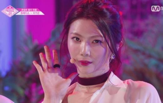 가은 손편지./사진=Mnet 방송캡처
