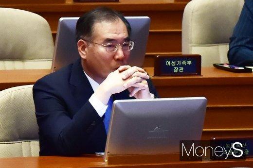 [머니S포토] 대정부 질문 참석한 이개호 장관