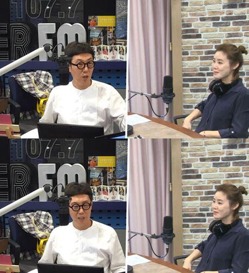 DJ 김영철과 배우 김성령. /사진=SBS 보이는라디오 방송화면 캡처