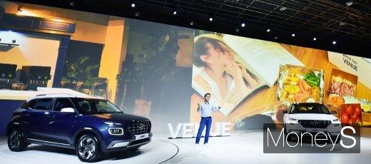 [머니S포토] 국내 차 시장에 공개된 혼라이프 SUV 베뉴