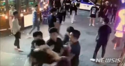 구리시 폭행 사건 영상. /사진=해당 유튜브 캡처