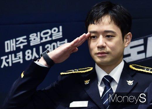 """[머니S포토] 천정명, """"도시경찰의 많은 것을 배우고자 시작했다"""""""