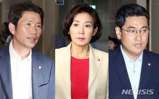 더불어민주당 이인영, 자유한국당 나경원, 바른미래당 오신환 원내대표.(왼쪽부터) /사진=뉴시스