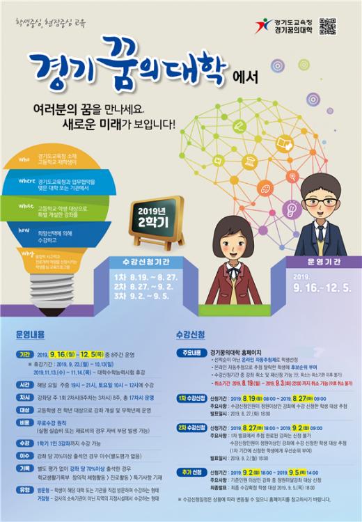 경기꿈의대학 2학기 수강신청 안내 포스터. / 자료제공=경기도교육청