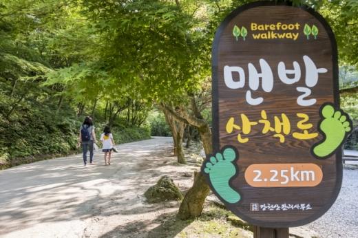 산세가 수려하기로 소문난 강천산에 조성된 맨발산책로. /사진=한국관광공사
