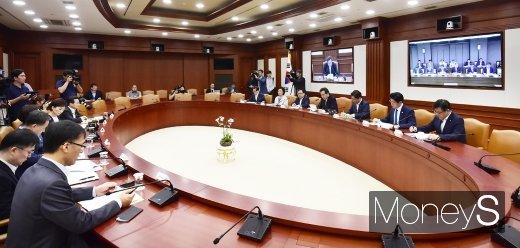 [머니S포토] 서울-세종 영상 국정현안점검조정회의