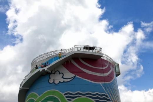 무주양수발전소의 발전설비 위에 만들어진 적상산전망대. /사진=한국관광공사