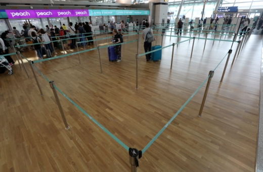 일본의 화이트리스트 한국 배제 조치로 불매운동이 확산된 가운데 지난 4일 오전 인천국제공항 일본행 출국장이 한산한 모습을 보이고 있다. /사진=뉴스1