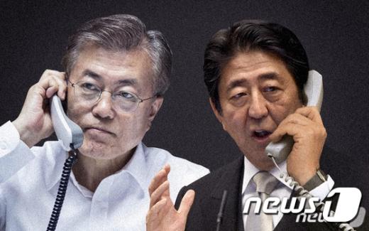 문재인 대통령(왼쪽) 아베 신조 일본 총리. /사진=뉴스1