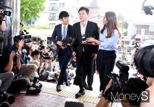 양현석 YG엔터테인먼트 전 대표는 29일 경찰에 출석했다. /사진=장동규 기자
