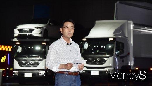 """[머니S포토] 이인철 부사장, """"파비스는 중형과 대형트럭의 장점만 모은 새 차급 트럭"""""""