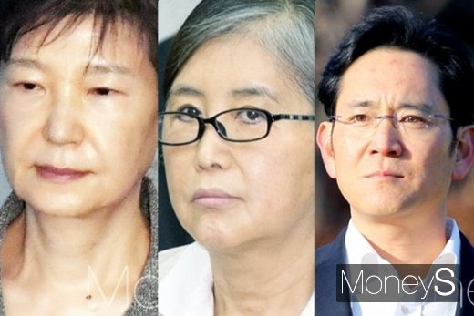 박근혜 전 대통령, 최순실, 이재용 삼성전자 부회장(왼쪽부터). /사진=머니S DB