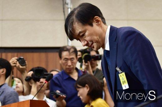 조국 법무부장관 후보자가 6일 국회에서 열린 인사청문회에서 의원들의 질의에 답하고 있다. /사진=임한별 기자