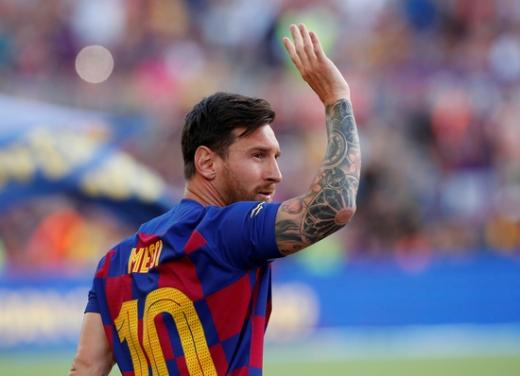 미국메이저리그사커 진출설이 제기된 FC 바르셀로나의 '전설' 리오넬 메시. /사진=로이터