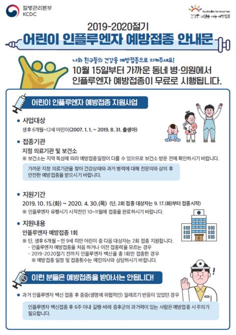 경기도, '인플루엔자 예방접종' 안내 홍부물. / 자료제공=경기도