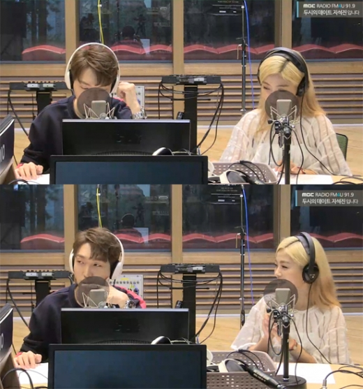 황인욱·박혜원. /MBC FM4U '두시의 데이트 지석진입니다' 보이는 라디오 캡처