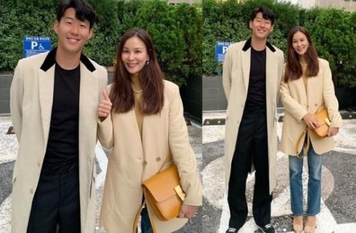 손흥민(왼쪽) 고소영. /사진=고소영 인스타그램 캡처