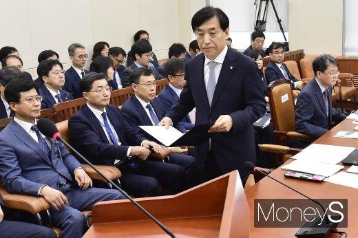 [머니S포토] 금리·물가 관련 2019 한국은행 국정감사