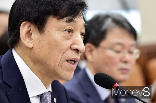 [머니S포토] 2019 국감, 질의 답하는 이주열 총재