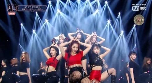 퀸덤. /사진=Mnet 퀸덤 방송 캡처