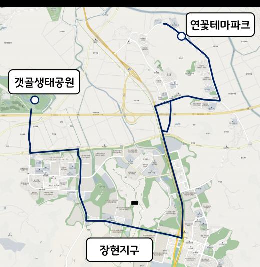 장현동 도시형 교통모델. / 자료제공=시흥시