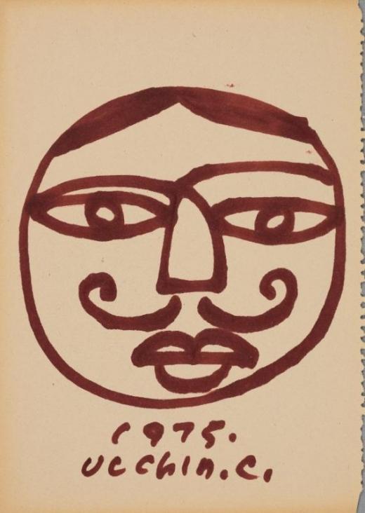 장욱진, 무제, 18.6x26.5cm, 종이에 매직마커, 1975. / 사진제공=양주시