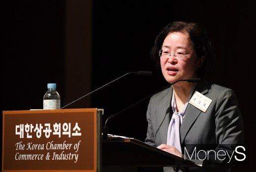 [머니S포토] 강연하는 조성욱 공정거래위원장